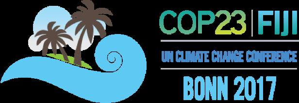 Logo der 23. UN-Klimakonferenz vom 6. bis 17. November in Bonn unter Präsidentschaft der Fidschis